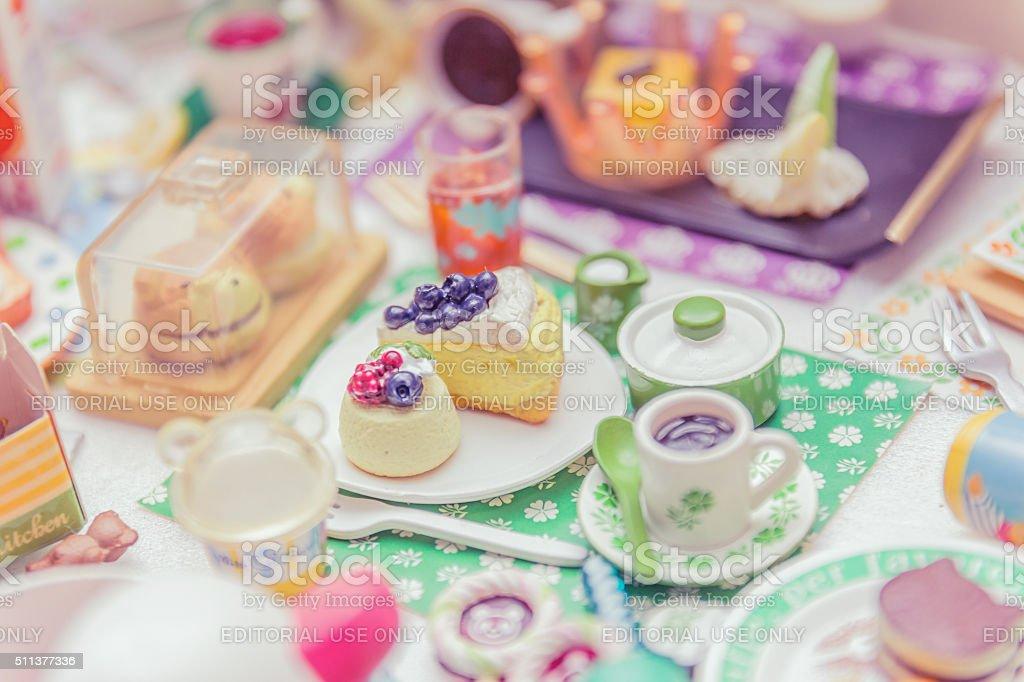 Bangkok,Thailand - October 29, 2015:Variety of miniature clay stock photo