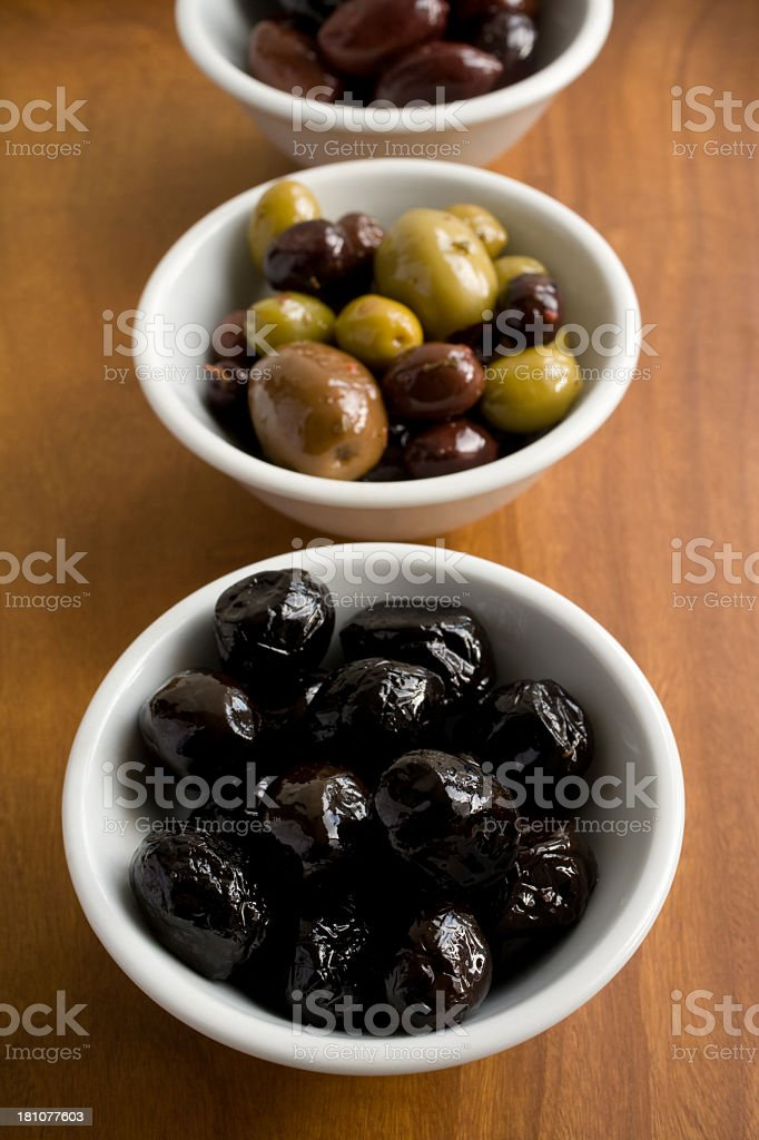 Variety of olives royalty-free stock photo