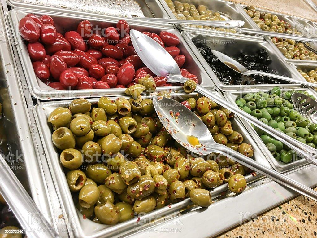 Variety of Olives stock photo