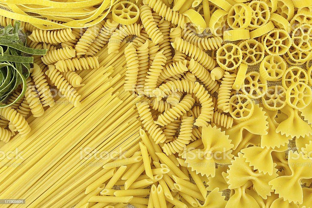Variety of pasta stock photo