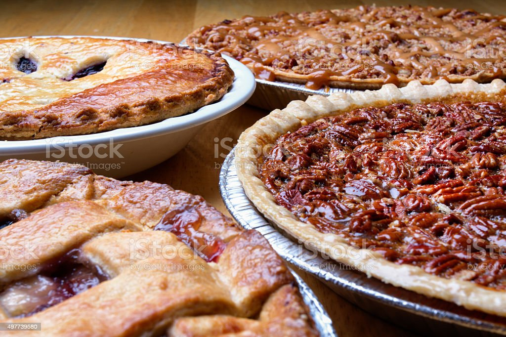 Variety of Pies stock photo