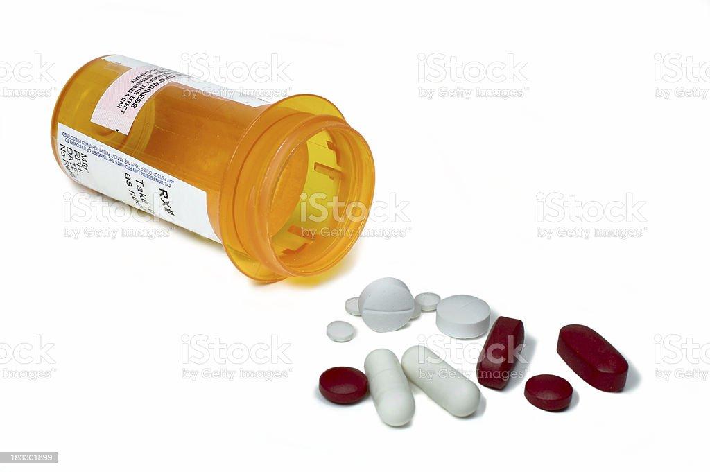 Variety of pills royalty-free stock photo
