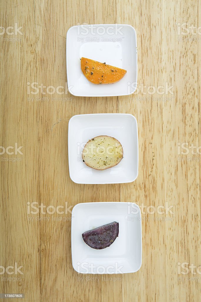 variety of potato slices royalty-free stock photo