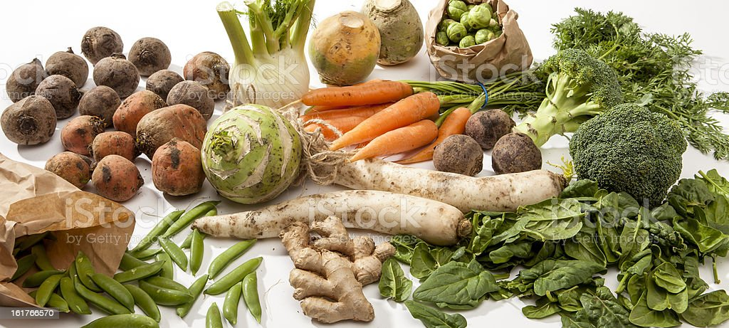 Variety of Raw Vegetables royalty-free stock photo