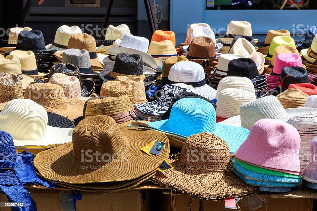 Variety of Sun Hats stock photo