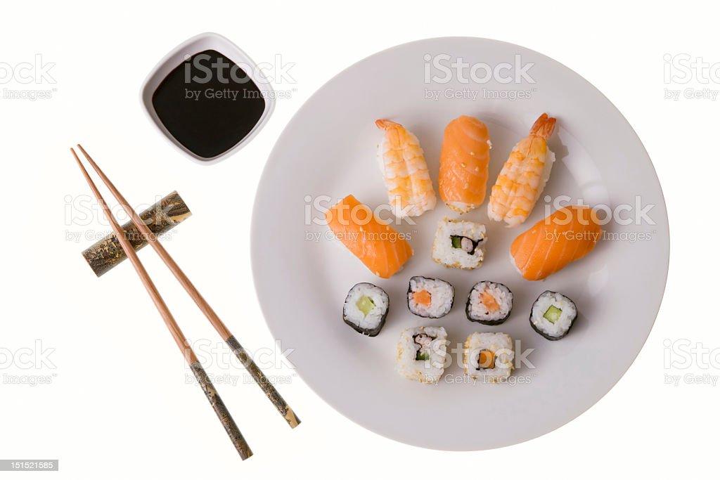 Variety of sushi rolls royalty-free stock photo