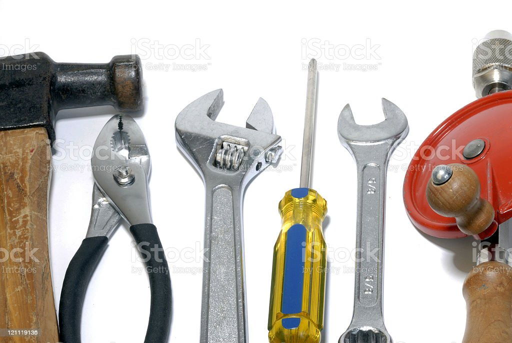 Variety of Tools royalty-free stock photo