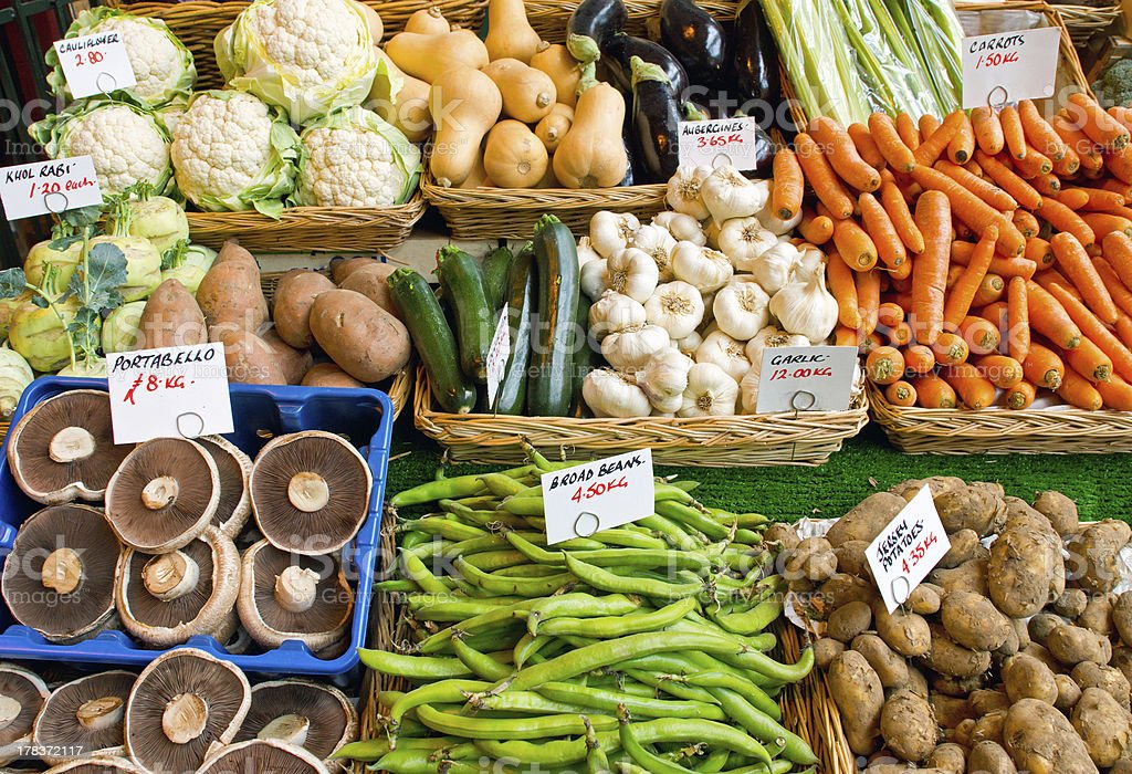 Variety of vegetables for sale royalty-free stock photo