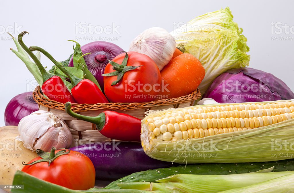Variety of vegetables stock photo