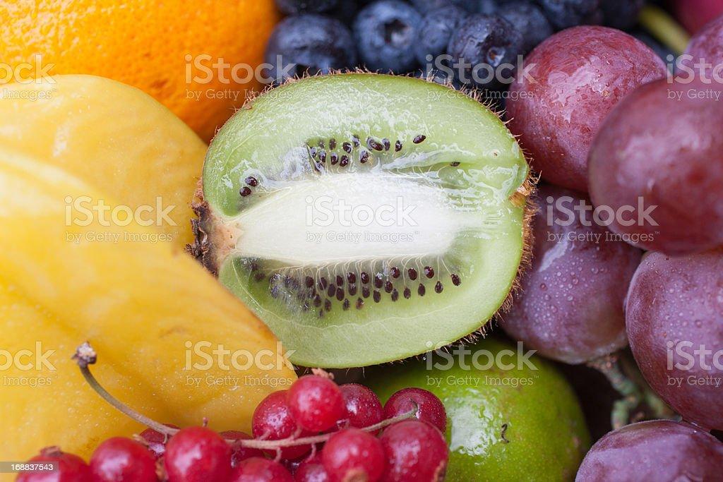 Variety of vibrant fruit royalty-free stock photo