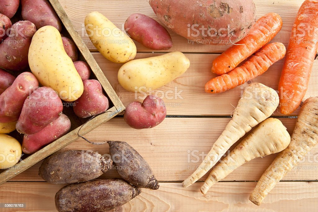 Variety of winter vegetables stock photo