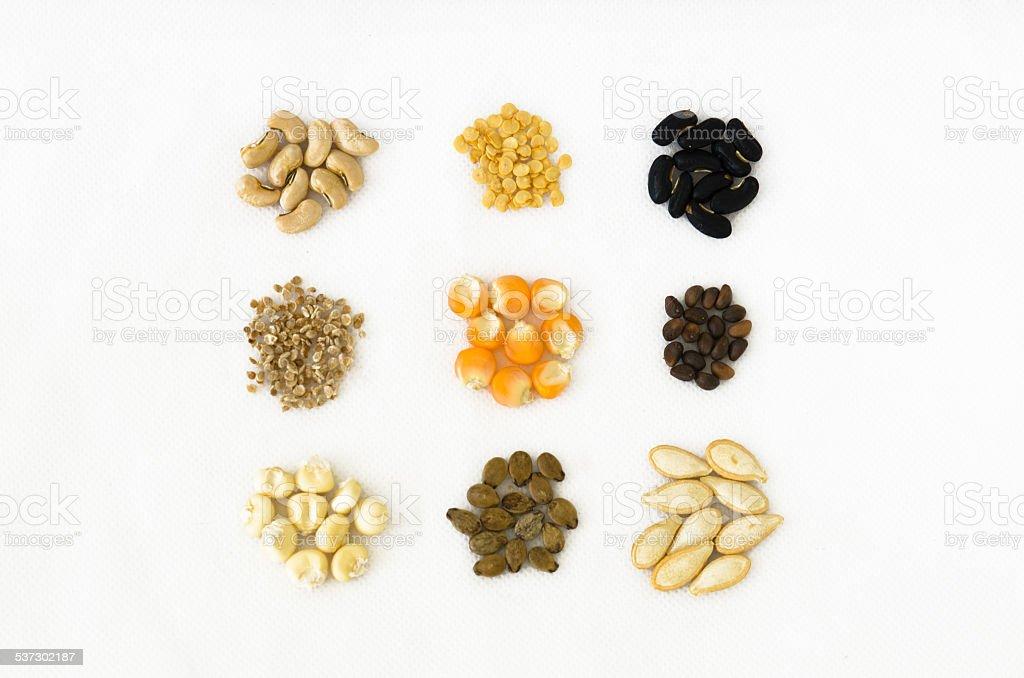 Variety Seeds stock photo