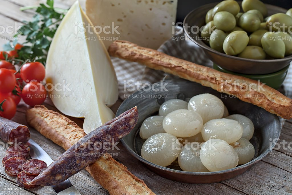 Various Appetizers stock photo