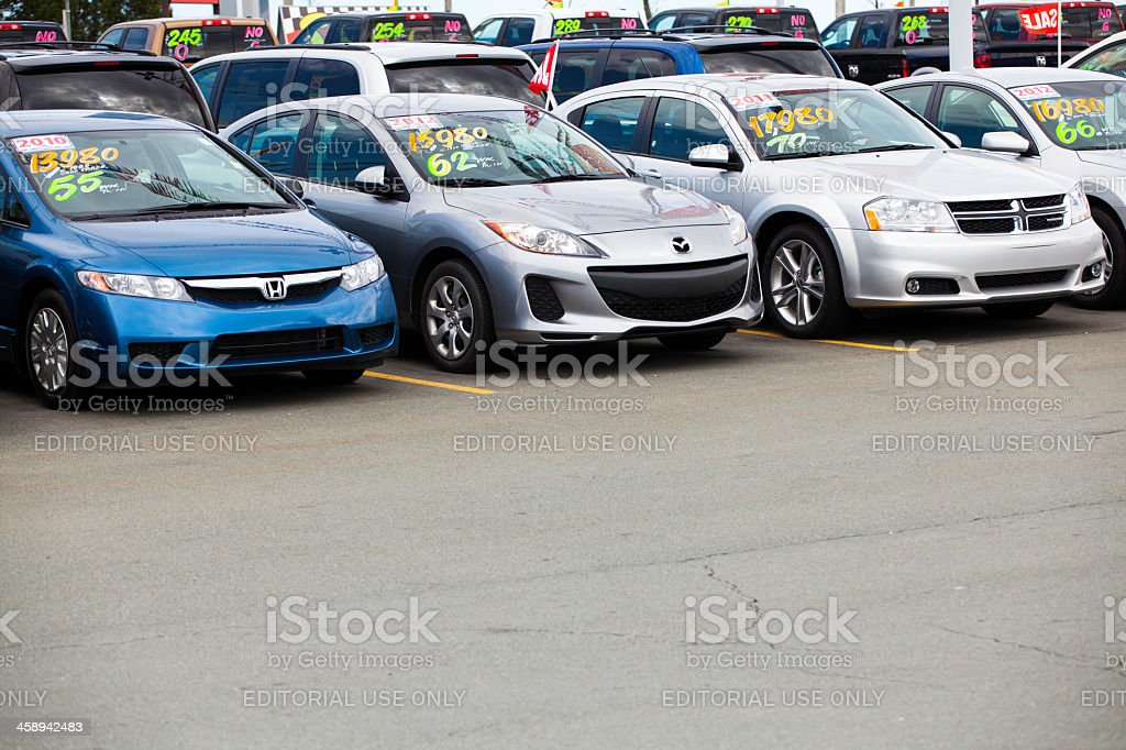 Various Automobiles for Sale stock photo
