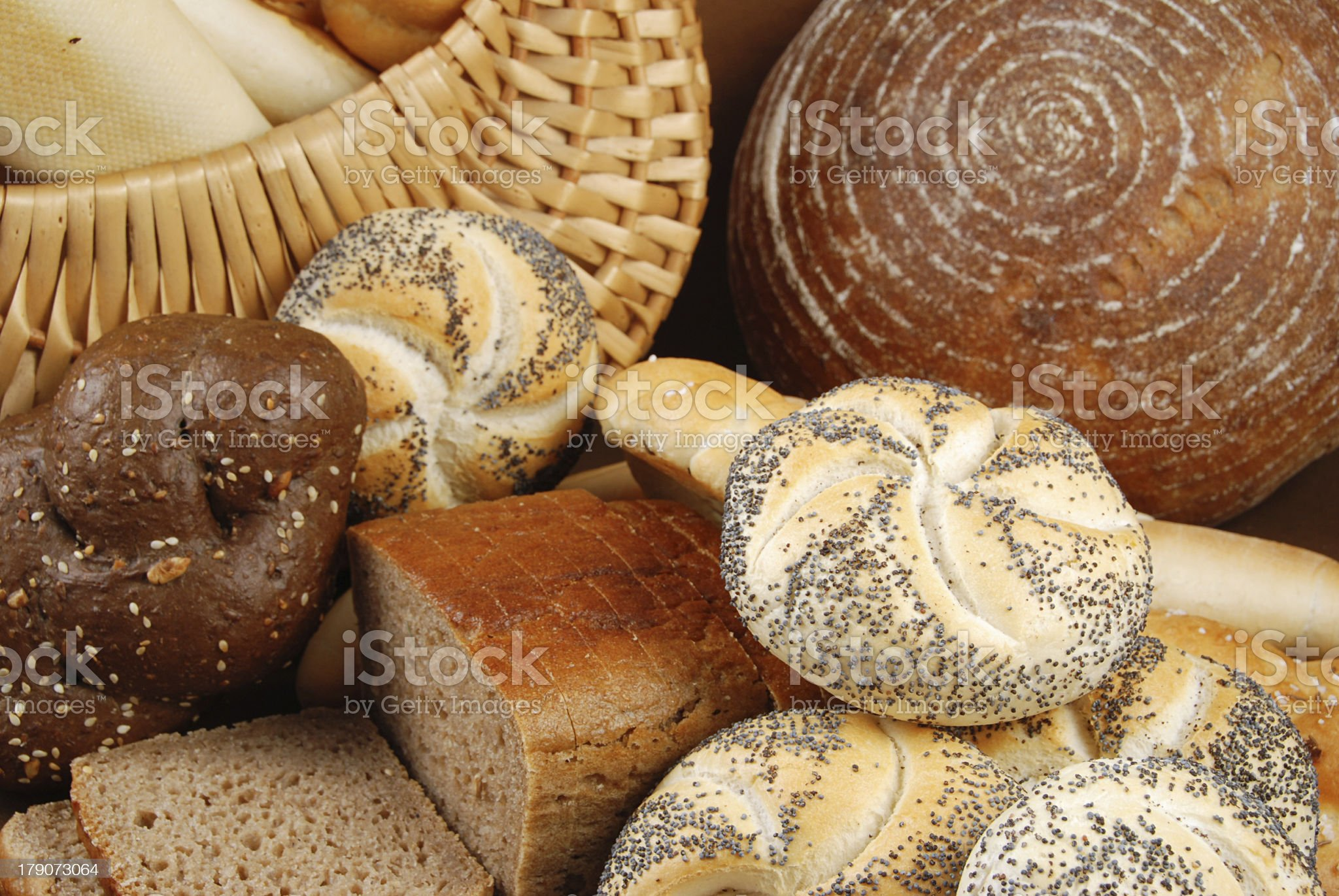 Various baked goods royalty-free stock photo