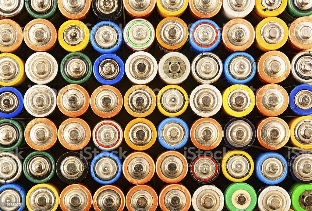 Various Batteries stock photo