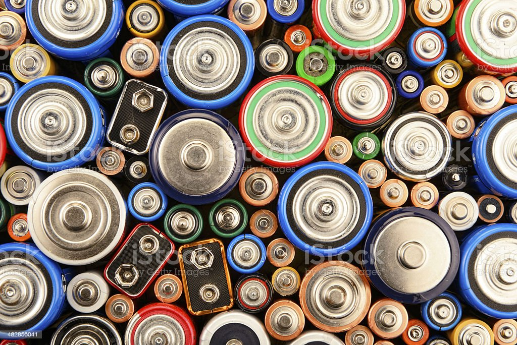 Various Batteries royalty-free stock photo
