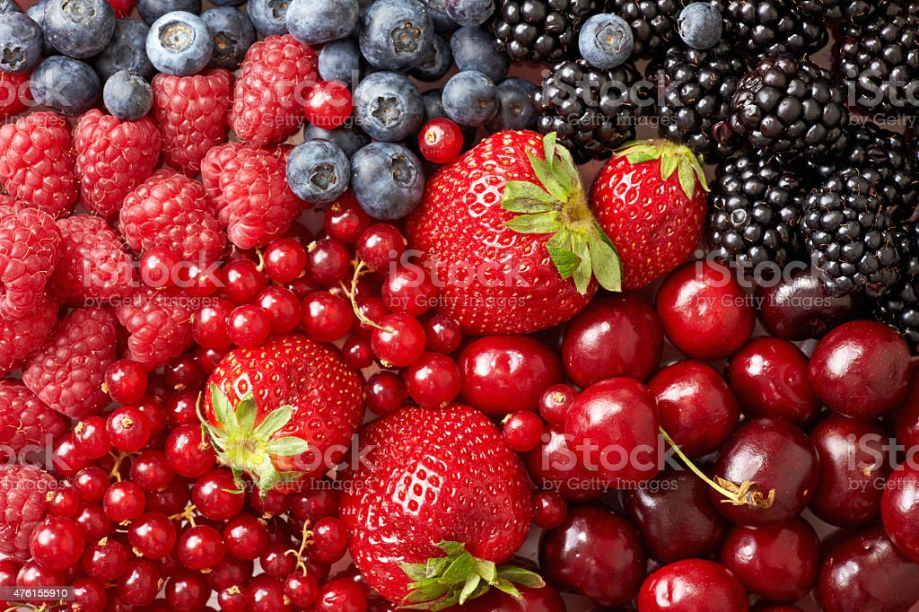 various berries background stock photo