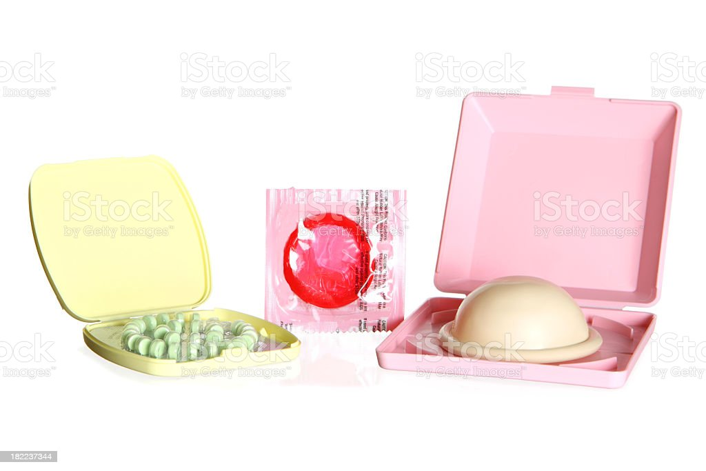 Various birth control options and choices stock photo