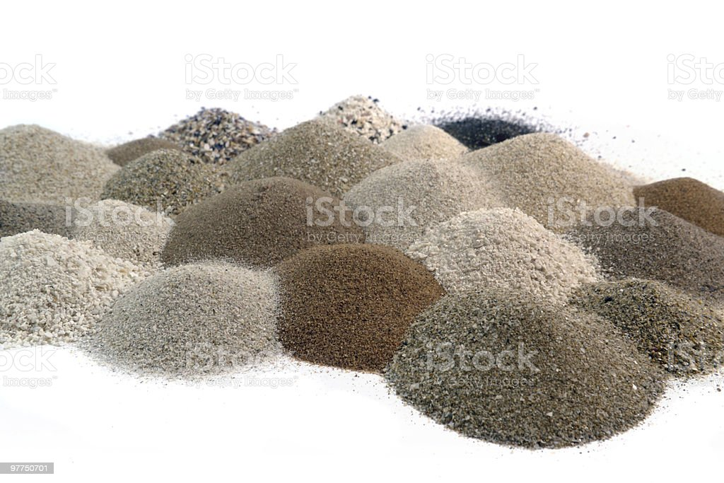 various brown sand piles together royalty-free stock photo
