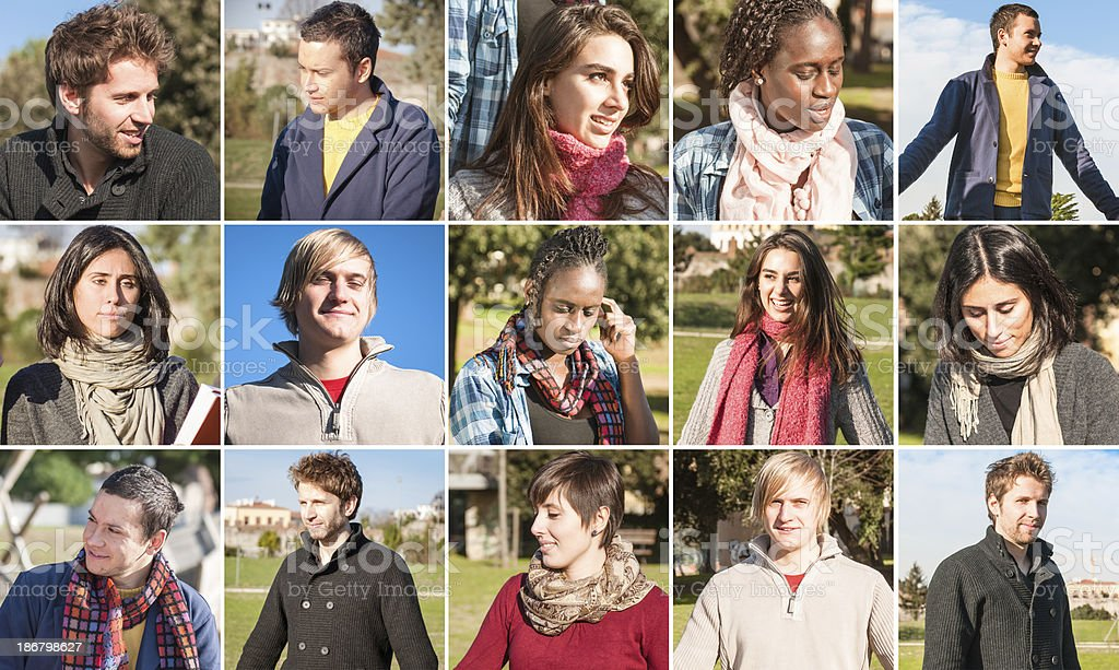 various characters people - multiracial royalty-free stock photo