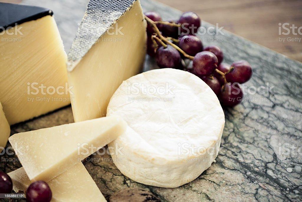 Various Cheeses stock photo