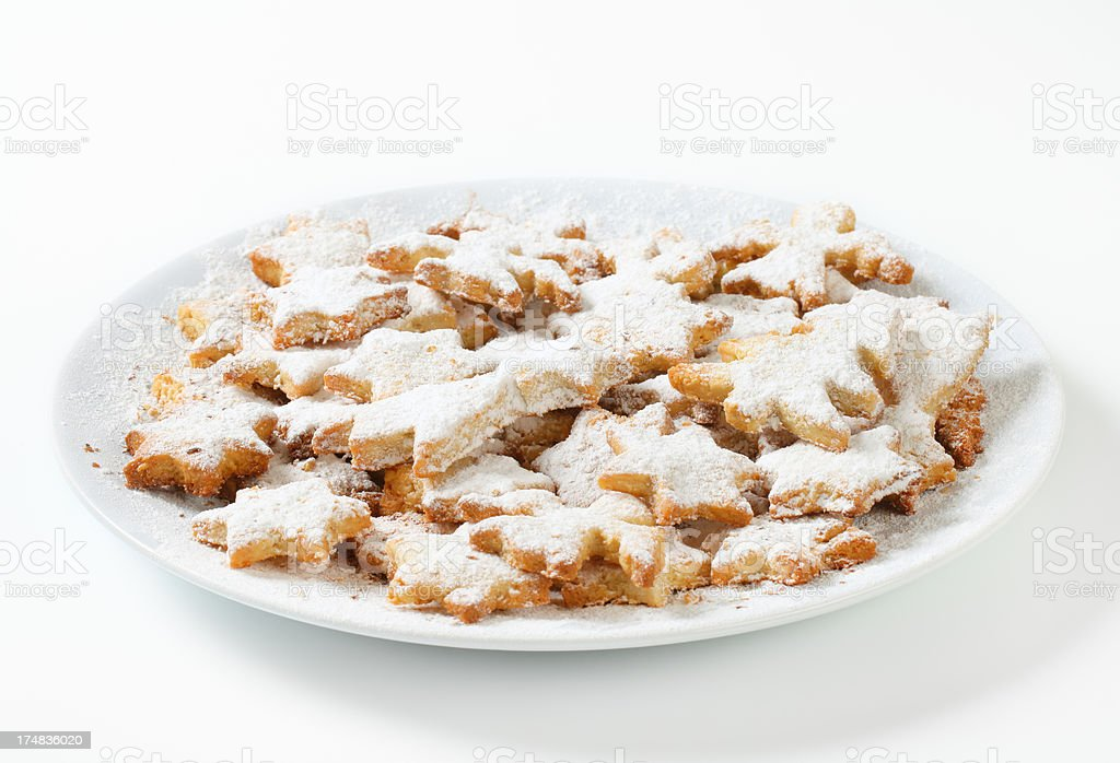 various christmas biscuits stock photo