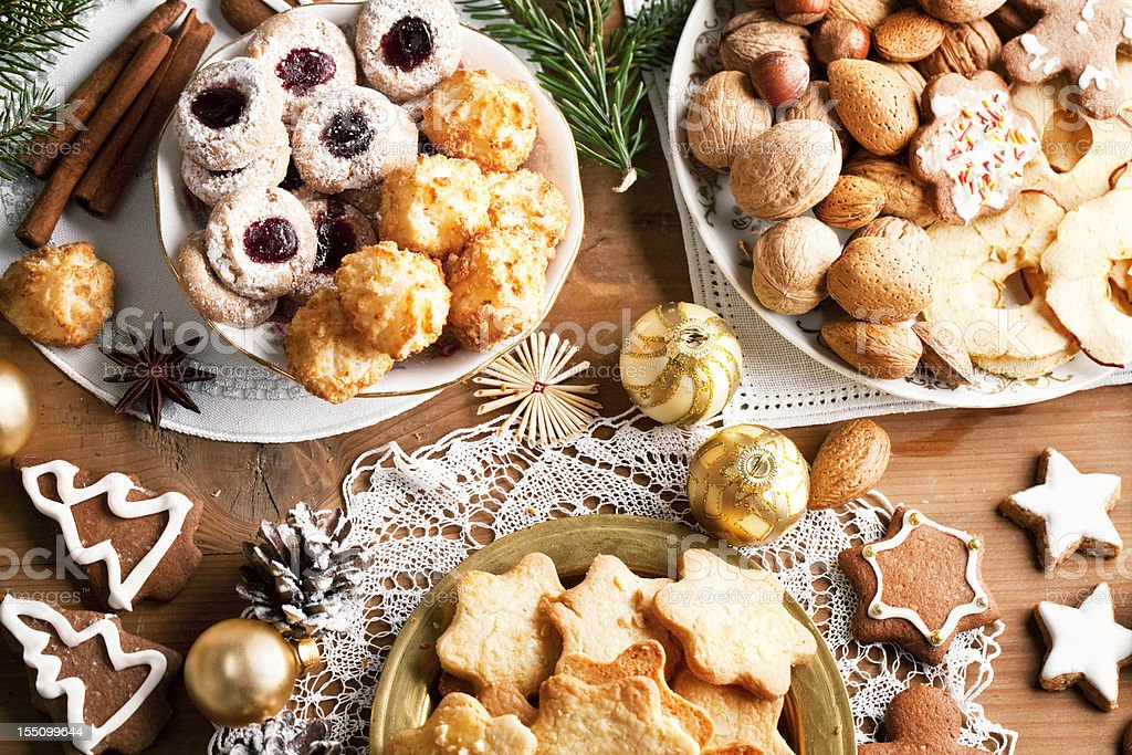 various christmas cookies royalty-free stock photo