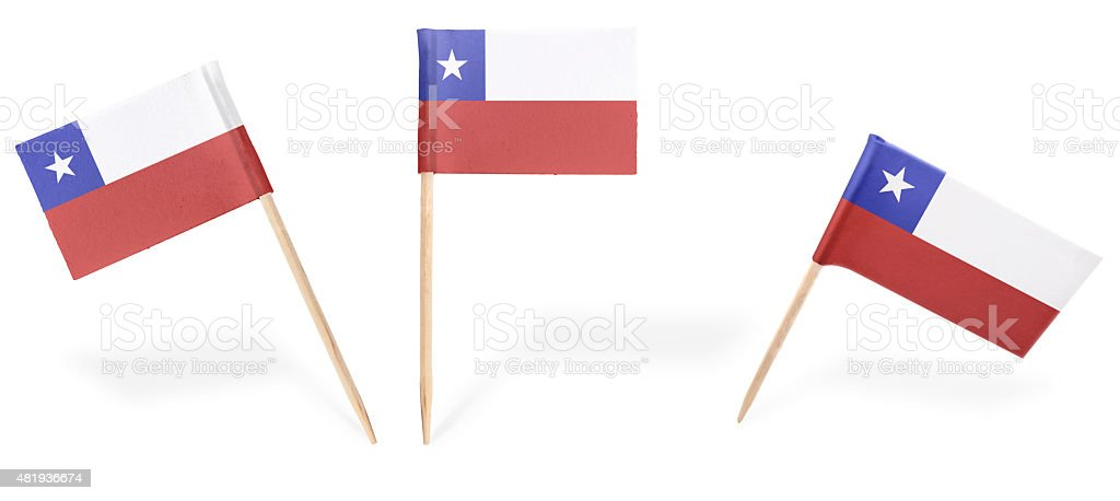 Various cocktail flags of Chile isolated on white.(series) stock photo