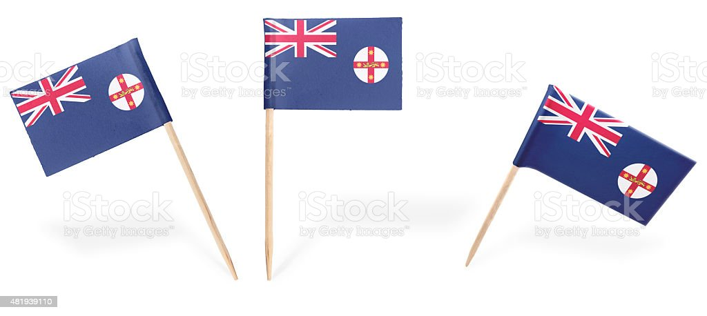 Various cocktail flags of New South Wales isolated on white.(ser stock photo