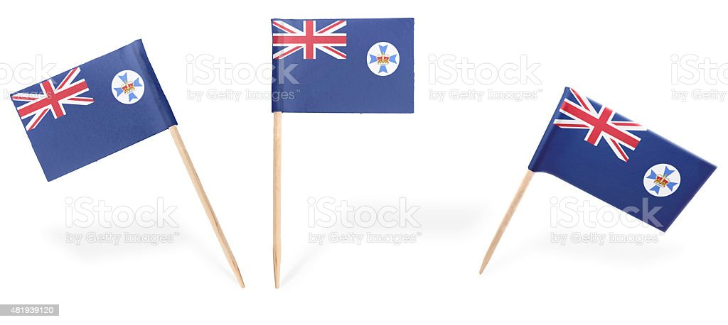 Various cocktail flags of Queensland isolated on white.(series) stock photo