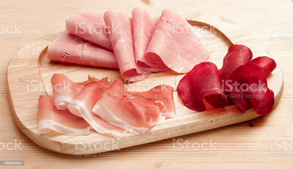 various cold cuts stock photo