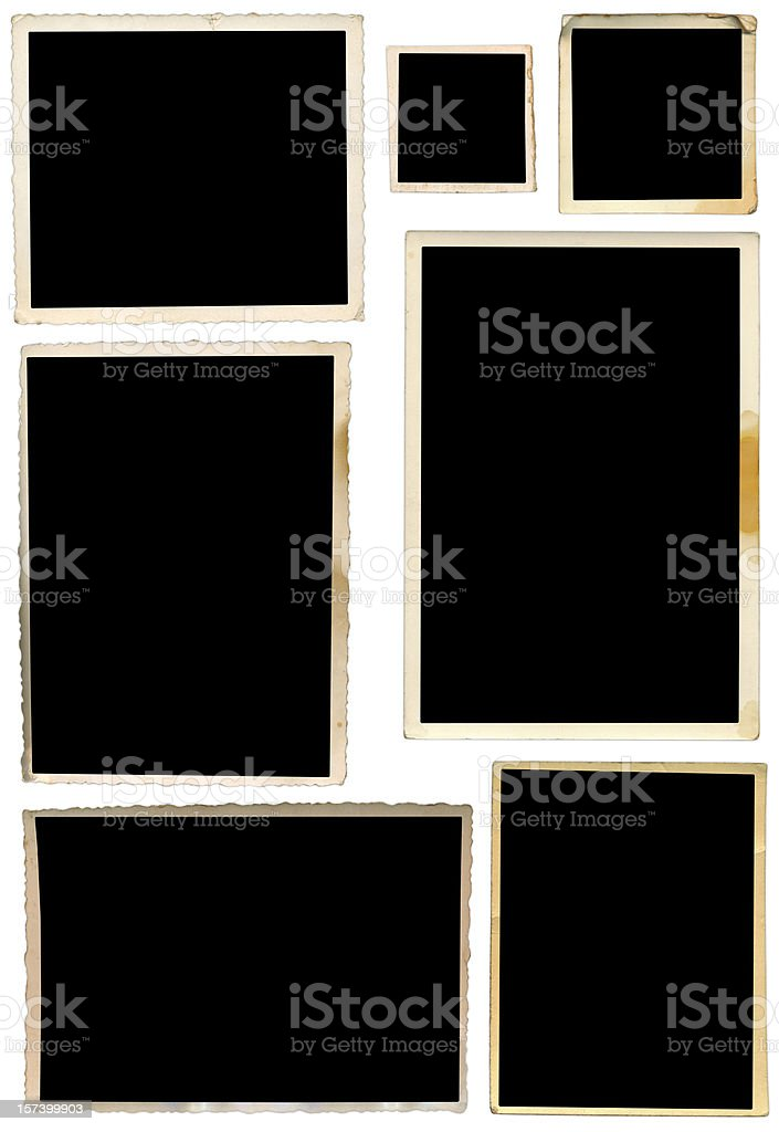 Various collection of photo frames royalty-free stock photo