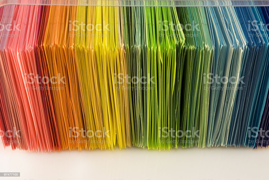 Various color paper royalty-free stock photo