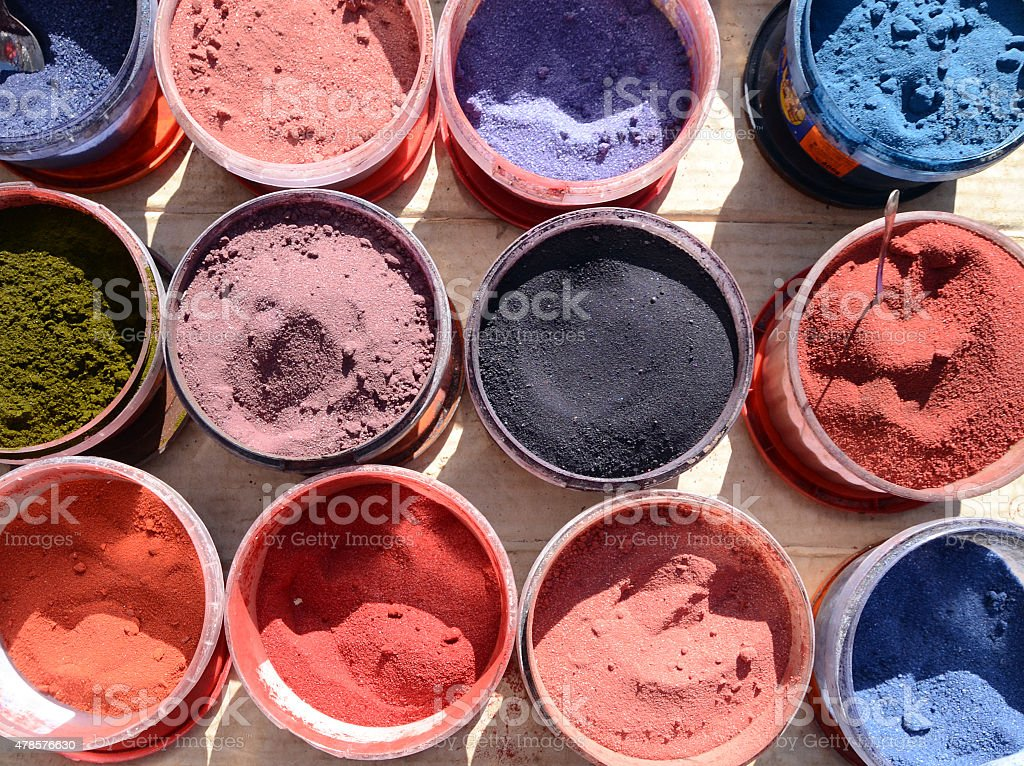 various color pigments stock photo