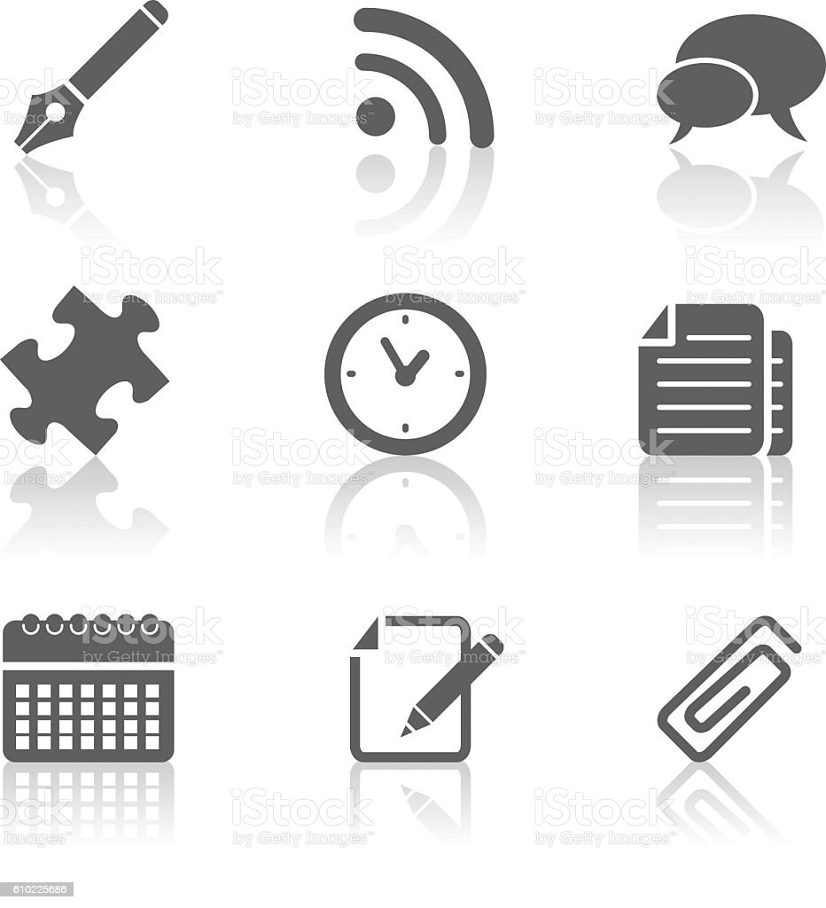various computer icons stock photo