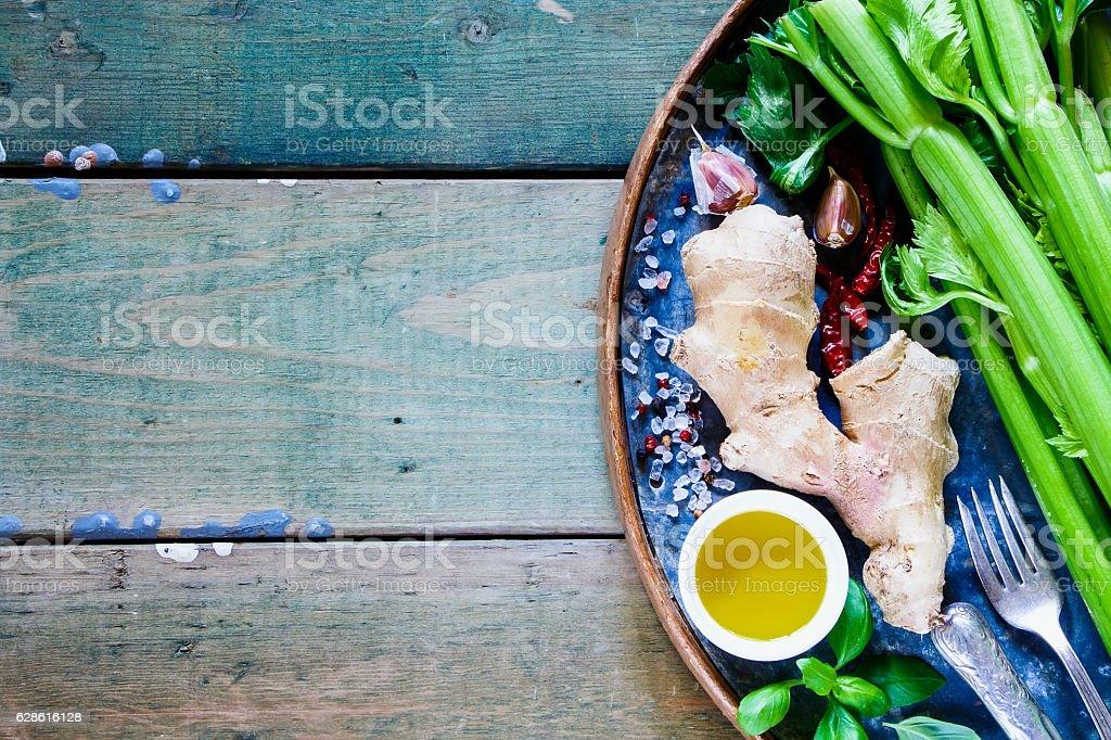 Various cooking ingredients stock photo