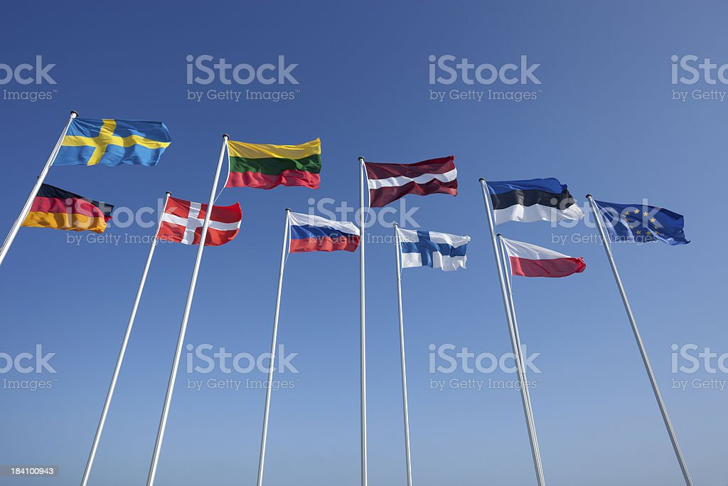 various country flags royalty-free stock photo
