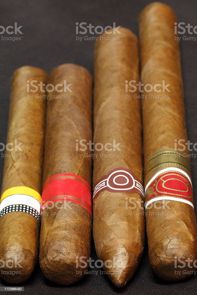 Various Cuban cigars royalty-free stock photo