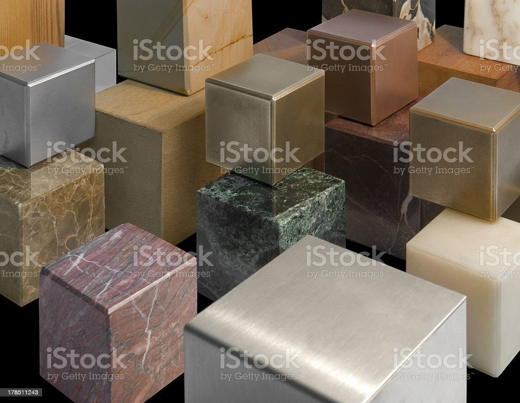 various cubes royalty-free stock photo