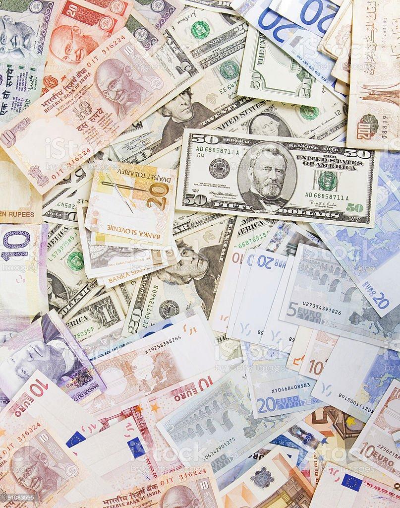 Various currencies royalty-free stock photo