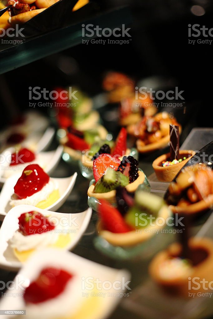 various delicious of dessert for wedding ceremony stock photo