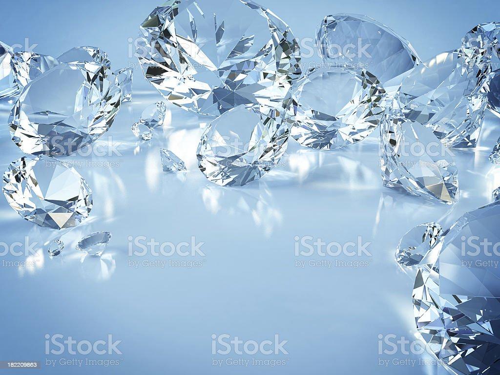 Various diamonds royalty-free stock photo