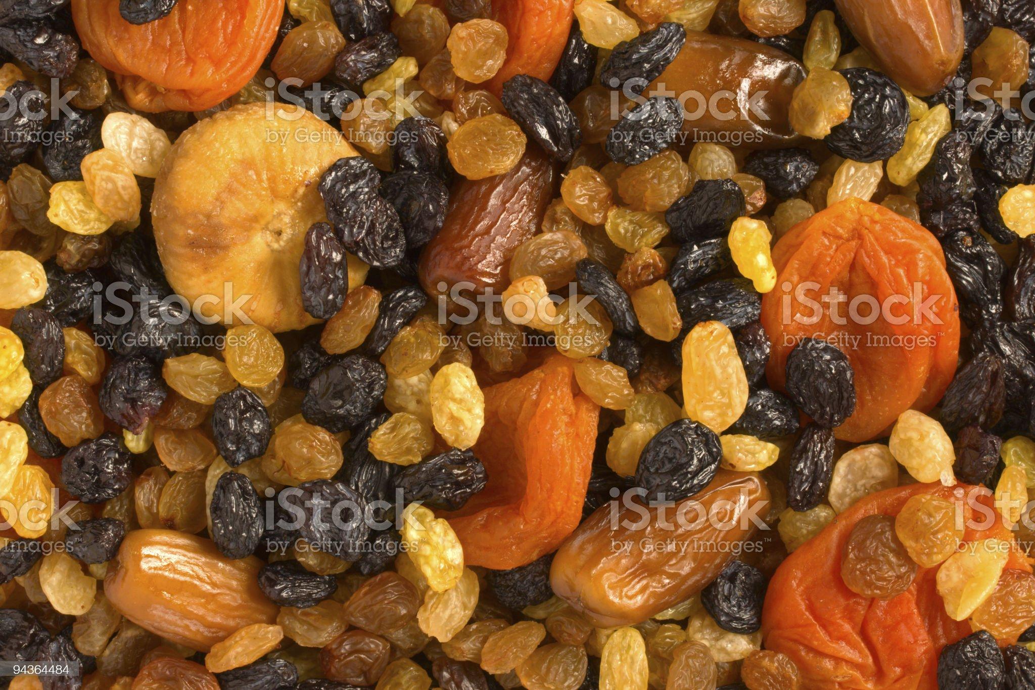 Various dried fruits close-up royalty-free stock photo