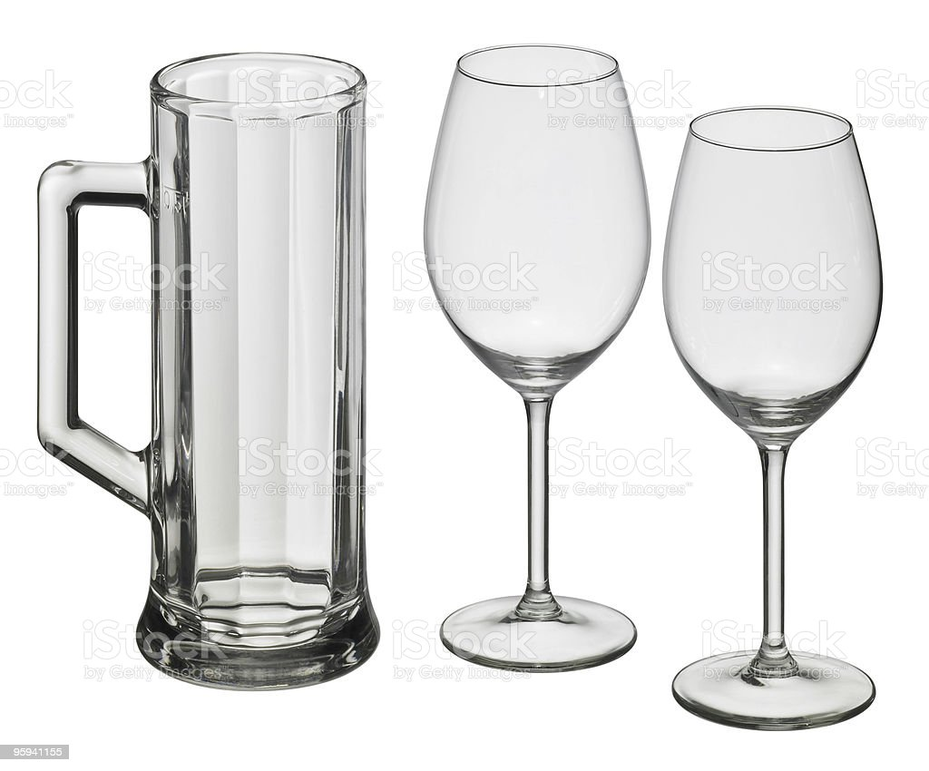 various drinking glasses royalty-free stock photo