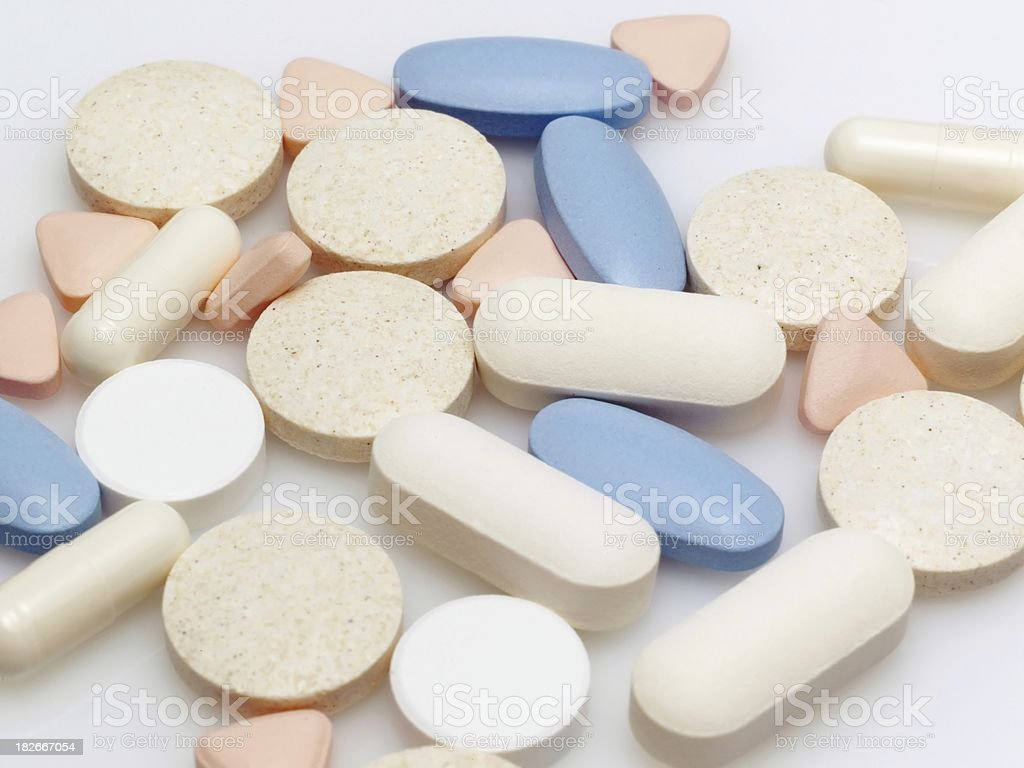 Various drug stack royalty-free stock photo