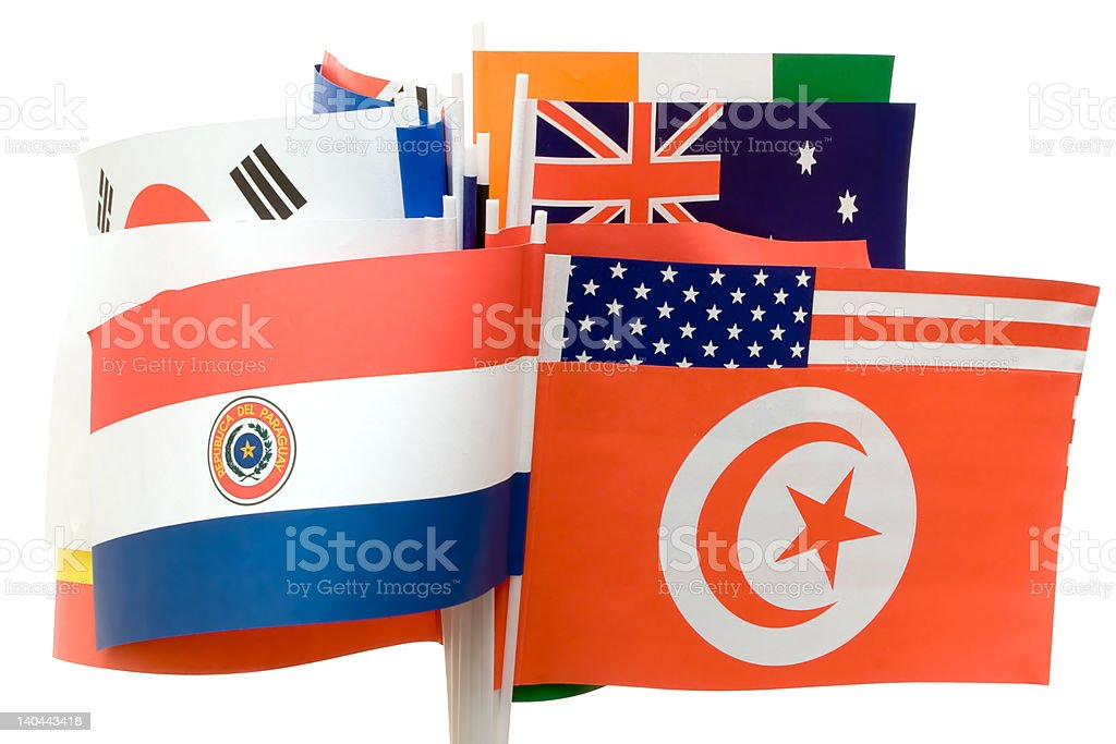 Various Flags royalty-free stock photo