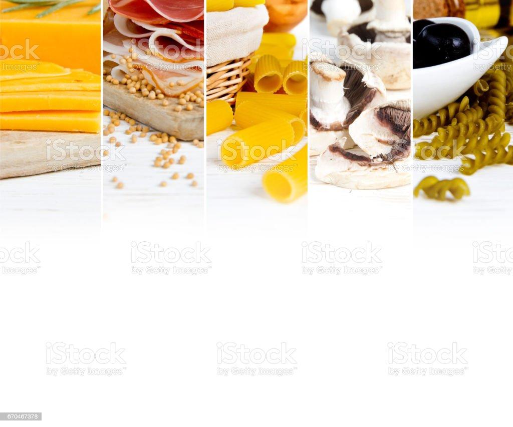 Various Food Mix stock photo