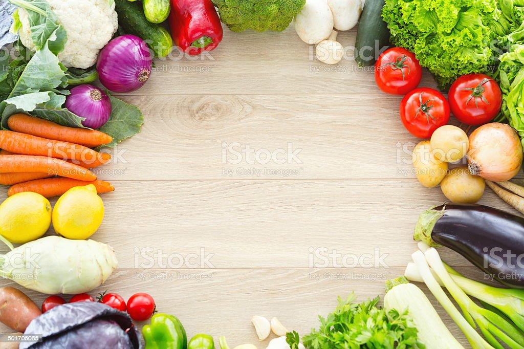 Various fresh vegetables stock photo