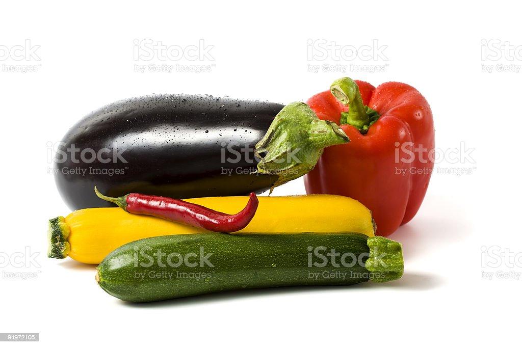 various fresh vegetables royalty-free stock photo